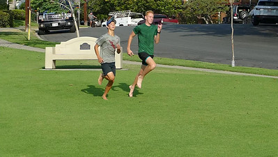 Slow motion sprinting at Pomona Park for form analysis