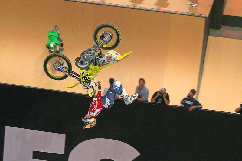Travis Pastrana - who later went on to take Moto X Best Trick- Gold Medal with the First Ever Double Back Flip!!