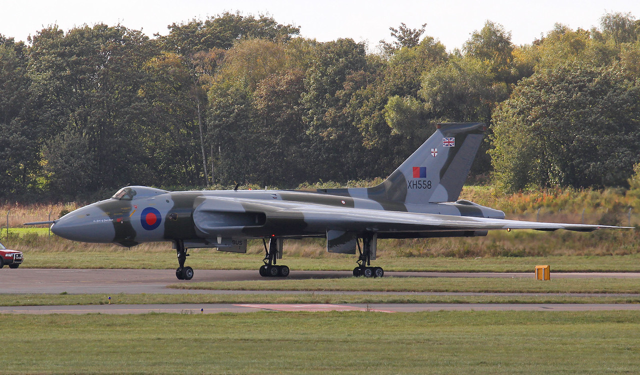 After scheduled engine runs XH558 went for a little wander.<br /> By Jim Calow.
