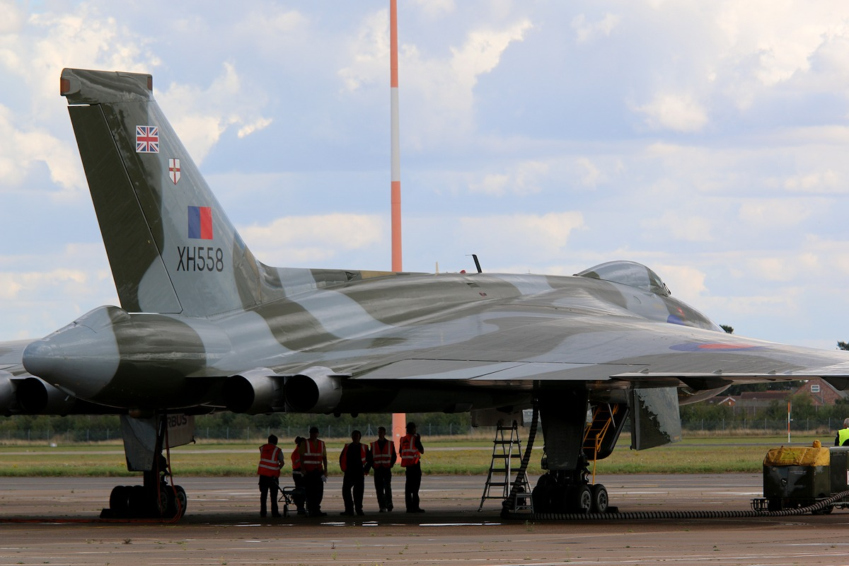 By 1409 XH558 is awaiting her flight crew<br /> By Correne Calow.