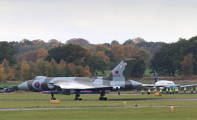 XH558 exits Engine Test Bay By Correne Calow.