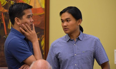 Two of our tellers: Frater Huan and Novice Paul