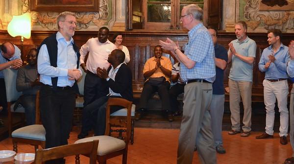 Fr. John thanks the Sant'Egidio community for its hospitality.