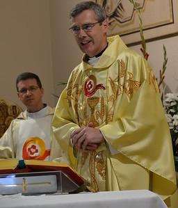 Fr. Heiner welcomes everyone