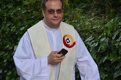 Our videographer, Fr. Francesco