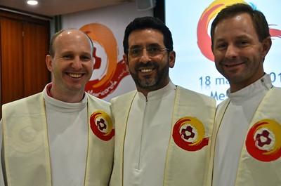 Fr. Diomar, Fr. Gilberto and Fr. Cláudio Márcio of the BRM Province