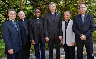 Fr. Carlos Enrique Caamaño Martín, Fr. Stephen Huffstetter, Fr. Léopold Mfouakouet, Fr. Heinrich Wilmer, Fr. Paulus Sugino and Fr. Artur Sanecki.