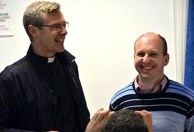 Fr. Heiner wishes Fr. Diomar a happy birthday: 32 years old!