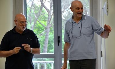 Sorrisi italiani! Fr. Rinaldo and Fr. Oliviero