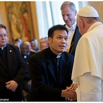 The photo of Fr. Duy that was featured in L'Osservatore Romano. Fr. Jack is behind him.