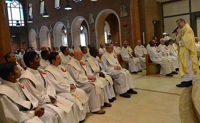 Fr. Heiner begins his homily
