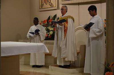 Fr. Aquilino leads evening prayer