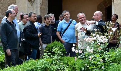 Continuing the tour at Santa Scolastica