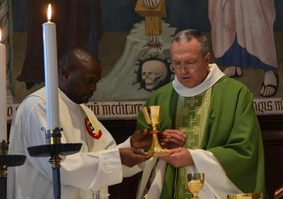 Eucharist; Fr. Massimo was the main presider