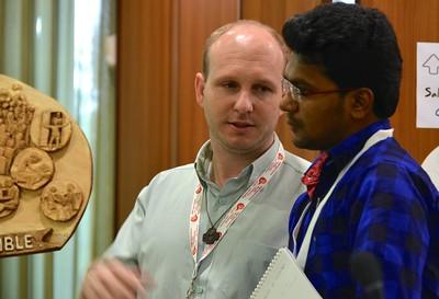 The tellers (scrutineers): Fr. Diomar Romaniv from Brazil and Fr. Vimala Thiyagarajan Susainathan of India