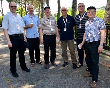 Fr. Steve joins the Polish-Croatian contingent on break