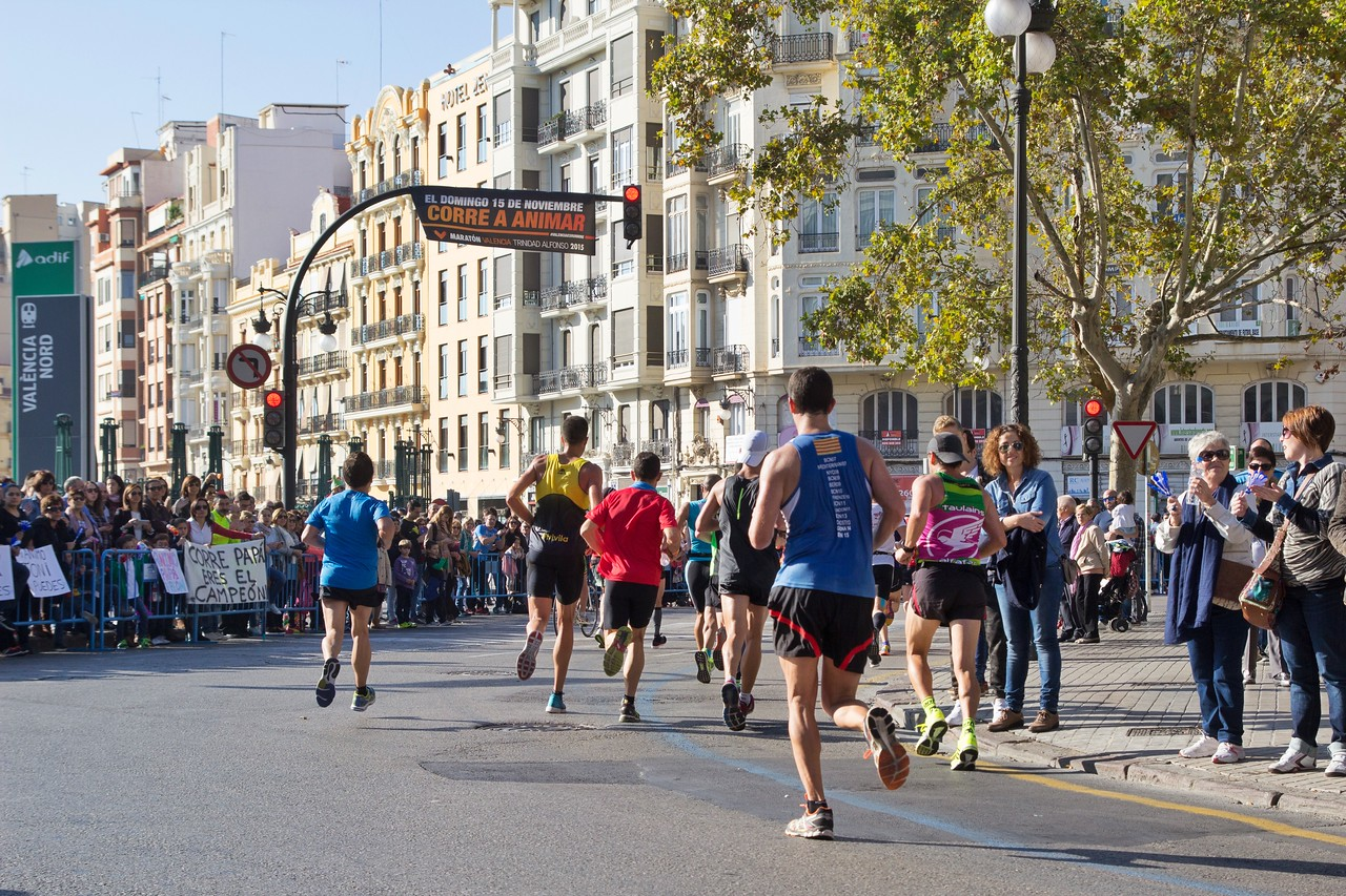 Valencia, Spain Marathon Run