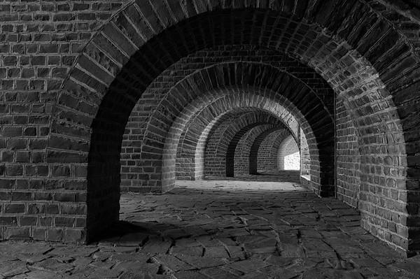 Inner passageway surrounding the amphitheatre (b/w)