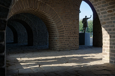 Shadows in a passageway of the amphitheatre