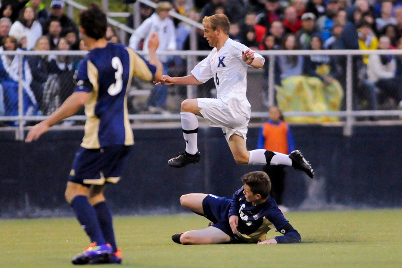 during the game between the Xavier Musketeers and Akron Zips Cincinnati, Ohio.  Xavier and Akron ended in a draw (1-1).