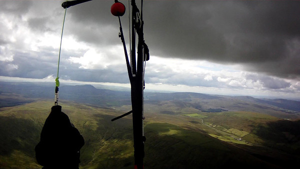South - base over Ingleborough only about 3500'