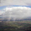 Showers clouds to south, but sky blueing out - winds turning more to NW and possibly coming in off Solway.