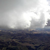 Base - skirting the edges of clouds - some big with hail showers.