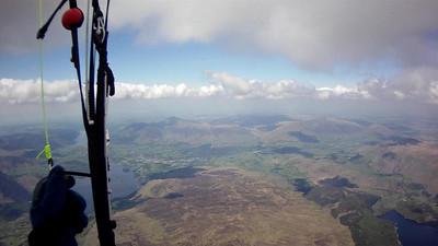 Flew north along Glaramara, then turned more east.
