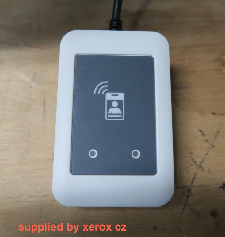 Card reader supplied by Xerox.