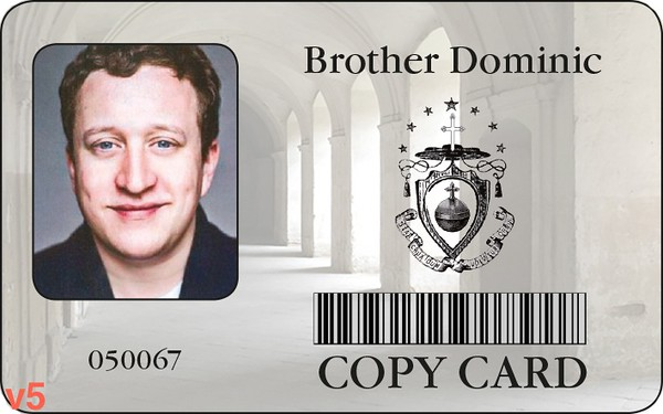 Approved card with photo of actor. Photograph of actor with correct costume, hair & makeup will be inserted.