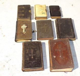 Selection of Bibles as dressing.