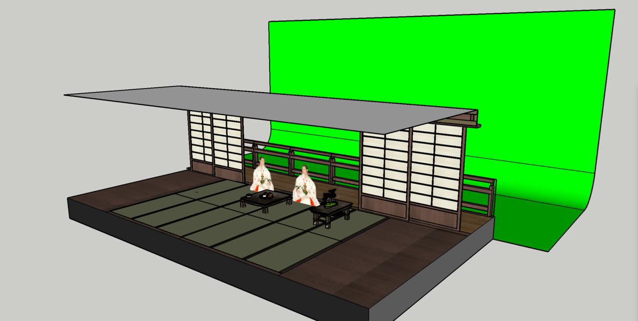 Japanese studio set.