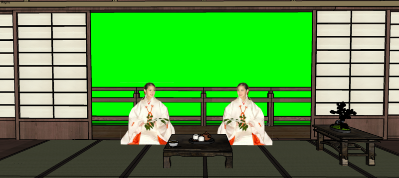 Japanese studio set.