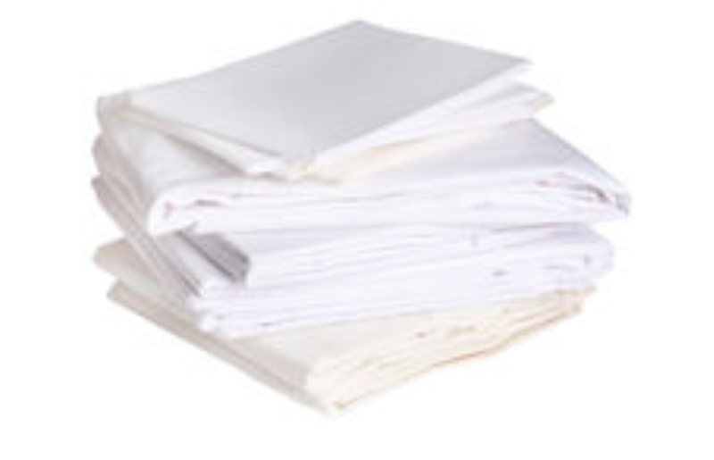 Huge 2ft pile of folded sheets. Much more grey/cream than these example ones.