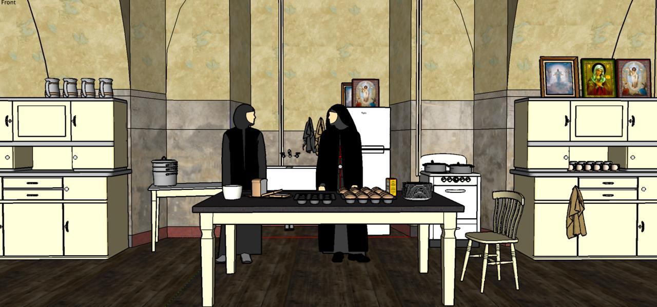 Nun's Kitchen - shot on location.