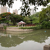 Local park. Quiet by day. At night, active wtih karaoke, ballroom dancing, and exercising.