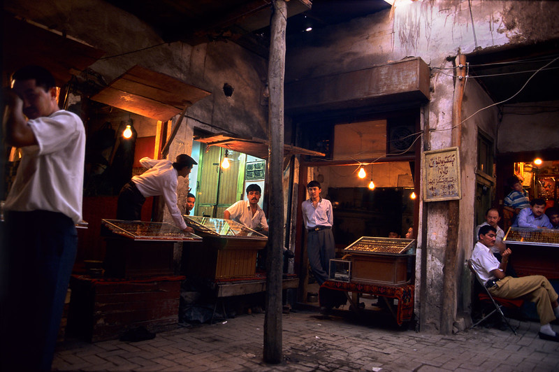 Kashgar jewelry shops.