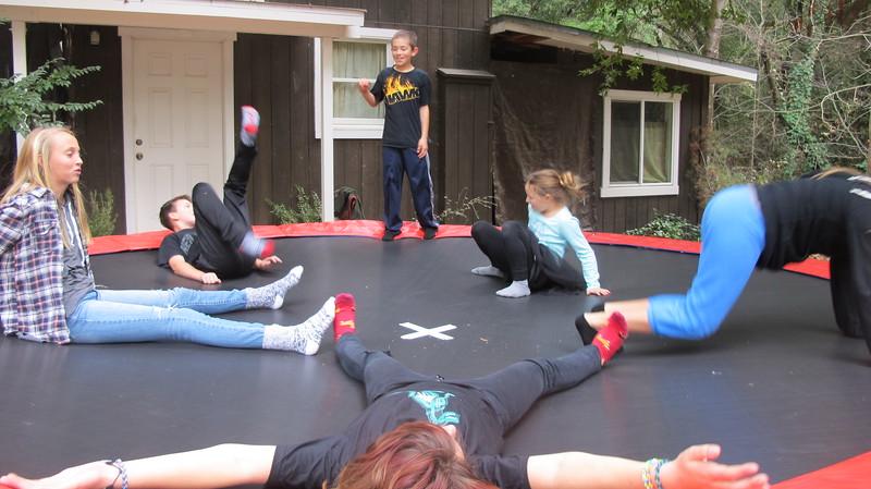 trampoline fall