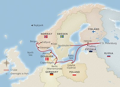 Baltic Sea Cruise route map