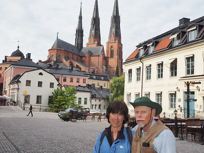 in old Uppsala, Sweden