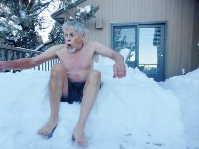 """John taking a """"Polar Plunge"""""""