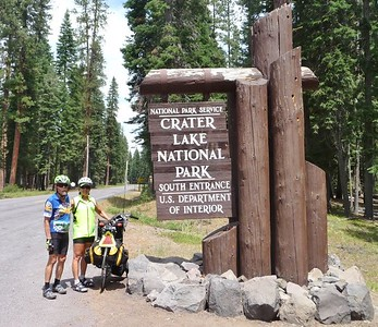 Our bike tour went through Crater Lake Natl Park