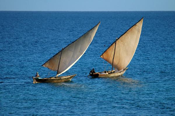 Location:  Zanzibar, Tanzania The early morning fishing dhows in Nungwi at the northern tip of Zanzibar.