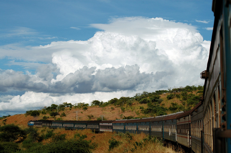Location: Tazara Express Train, Zambia The 48 hour train that runs from Lusaka in Zambia to Der es Salaam in Tanzania.  If i remember correctly it cost $35us for the 2 day train ride sharing a 1st class sleeper with 3 others.