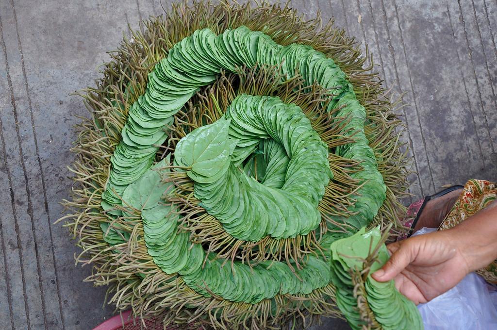 Betel leaves at a market in Yangon
