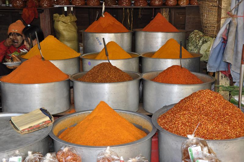 Mandalay spice market