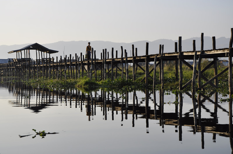 Inle Lake Local Bridge
