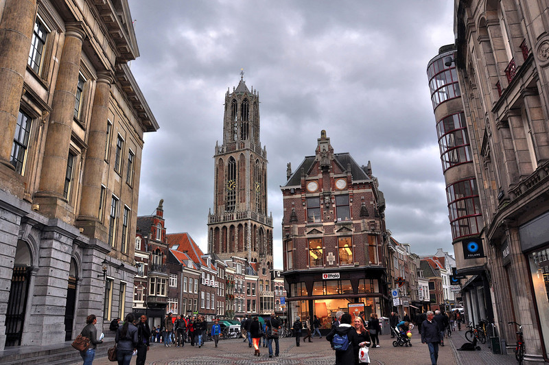 The Dom Tower, Downtown Utrecht Holland