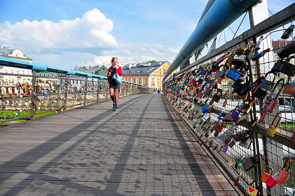 Love Bridge, Krakow Poland