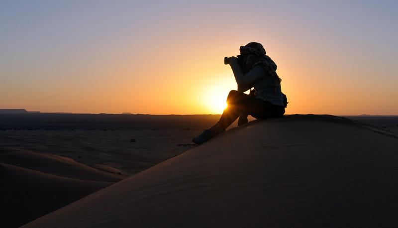 Sahara Desert at sunrise